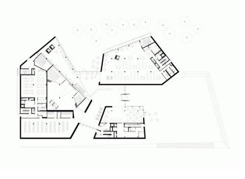 Biblioteca universidad de vilnius ficha fotos y planos for Planta arquitectonica biblioteca
