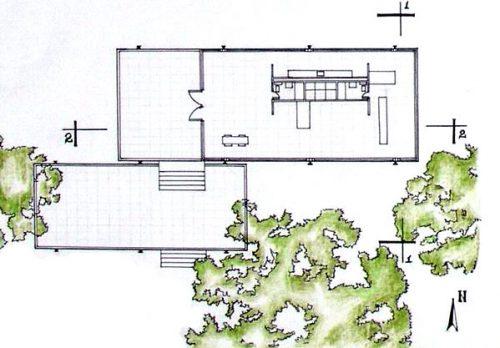 Farnsworth House Data s & Plans WikiArquitectura