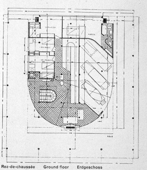 Villa savoye ficha fotos y planos wikiarquitectura for Medidas de un carro arquitectura